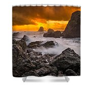 Luffenholtz Winter Sunset 2 Shower Curtain