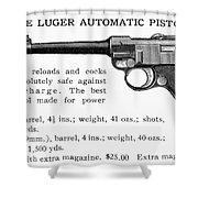Luger Automatic Pistol Shower Curtain
