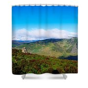 Luggala And Lough Tay, Co Wicklow Shower Curtain
