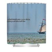 Luke 5 11 Shower Curtain