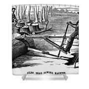 Lumbering: Saw, 1879 Shower Curtain