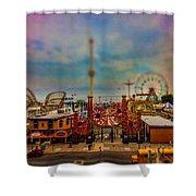 Luna Park-a-rama Shower Curtain