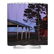 Lunar Eclipse At The Farm Shower Curtain