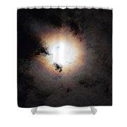 Lunar Enigma Shower Curtain