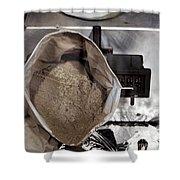 Lunar Soil Shower Curtain
