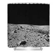 Lunar Surface Shower Curtain