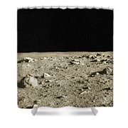 Lunar Surface Shower Curtain by Science Source