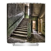 Lunatic Stairs Shower Curtain by Nathan Wright