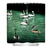 Lunch Crowd Shower Curtain