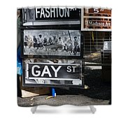 Lunch Time Between Fashion Ave And Gay Street Shower Curtain by Rob Hans