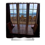 Lunch With A View Shower Curtain