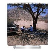 Lunchtime In The Desert Of Sinai Shower Curtain