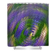 Lupine Swirl Shower Curtain