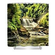 Lush Lower Falls Shower Curtain