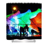 Lux City Shower Curtain