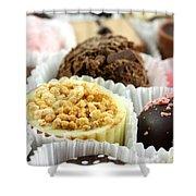 Luxury Individual Chocolates Shower Curtain