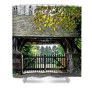 Lychgate To St Paul's Church - Scropton Shower Curtain