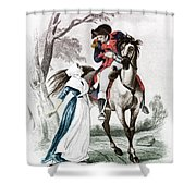 Lydia Darragh, American Patriot Shower Curtain by Photo Researchers