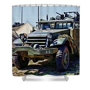 M-2 Half-track Shower Curtain