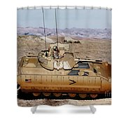 M2 Bradley Fighting Vehicle Shower Curtain