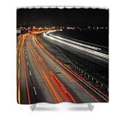 M5 At Night Shower Curtain