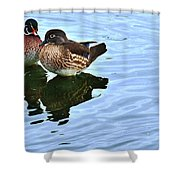Ma And Pa Wood Duck Shower Curtain