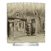 Mabel's Gate As Antique Print Shower Curtain