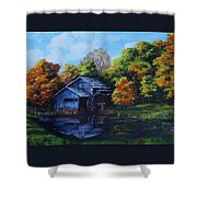 Mabry Mill In Autumn Shower Curtain