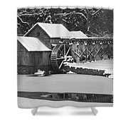 Mabry Mill In Black And White Shower Curtain by Joe Elliott