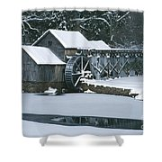 Mabry Mill Winter Shower Curtain