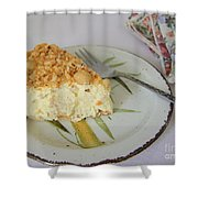 Macadamia Nut Cream Pie Slice Shower Curtain