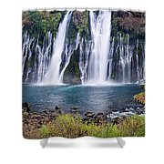 Macarthur-burney Falls Panorama Shower Curtain