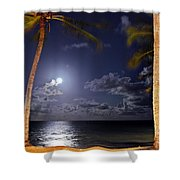 Maceio - Brazil - Ponta Verde Beach Under The Moonlit Shower Curtain
