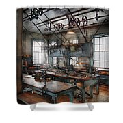 Machinist - Steampunk - The Contraption Room Shower Curtain