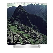Machu Picchu, A Pre-columian Inca Ruin Shower Curtain