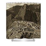 Machu Picchu Sepia Shower Curtain