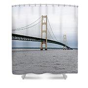Mackinac Bridge From Water 2 Shower Curtain