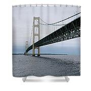 Mackinac Bridge From Water Shower Curtain