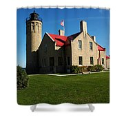 Mackinac Island Lighthouse Shower Curtain
