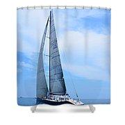 Mackinac Race Shower Curtain
