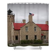 Mackinaw City Lighthouse Number 2446 Shower Curtain