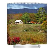 Mack's Farm In The Fall 2 Filtered Shower Curtain