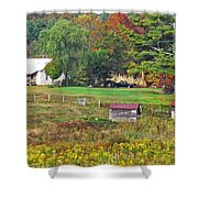 Mack's Farm In The Fall Shower Curtain