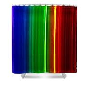 Macro Bromine Spectra Shower Curtain