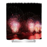 Macy's Fireworks On The Hudson Shower Curtain