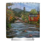 Mad River And Campton Bridge Shower Curtain