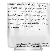 Madame De Stael Letter Shower Curtain