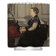 Madame Manet At The Piano Shower Curtain