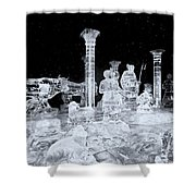 Made Of Ice V5 Shower Curtain