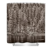Madison River Yellowstone Bw Shower Curtain
